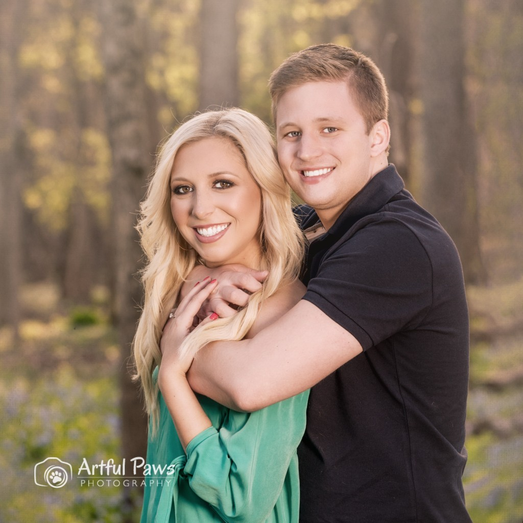 engagement photo session in the Virginia bluebells