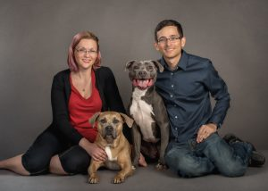 studio-family-portrait-dogs-two-pitbull