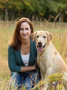 yellow-lab-dog-with-owner-field-tall-grass-outdoor