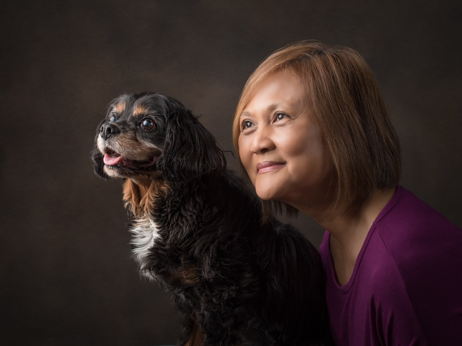 studio-dog-photography-cvalier-king-charles-spaniel-with-owner