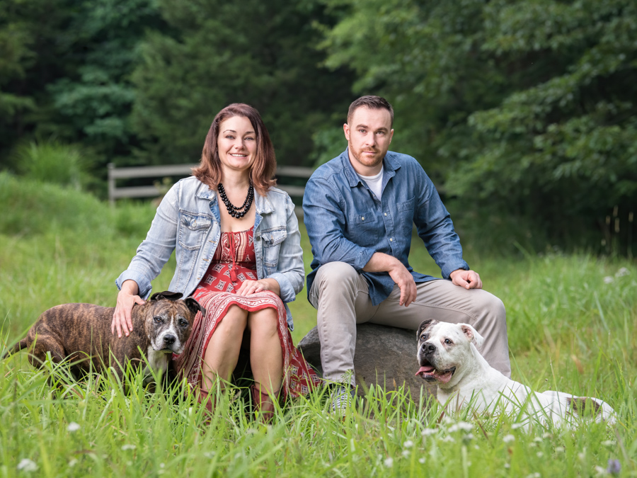 dog photography outdoor family portrait